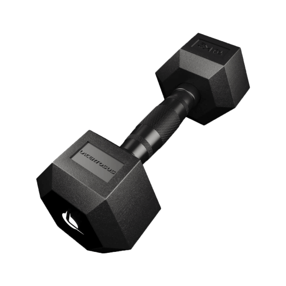 PRO HEX Rubber Dumbbell 10 Kg Hexagonal Dumbbells Lacertosus