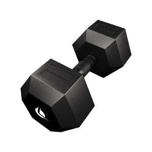 PRO HEX Rubber Dumbbell 25 Kg Hexagonal Dumbbells Lacertosus