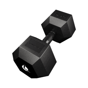 PRO HEX Rubber Dumbbell 27.5 Kg Hexagonal Dumbbells Lacertosus