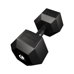 PRO HEX Rubber Dumbbell 32.5 Kg Hexagonal Dumbbells Lacertosus