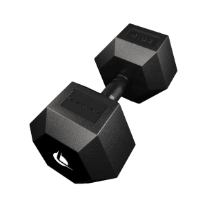 PRO HEX Rubber Dumbbell 35 Kg Hexagonal Dumbbells Lacertosus