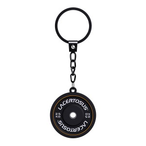 Lacertosus Keychain - Bumper Plate black