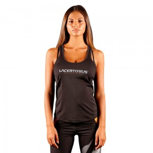 Women's Tank Top M Black Donna abbigliamento fitness Lacertosus